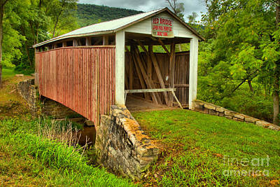 Photograph - Red Covered Bridge by Adam Jewell