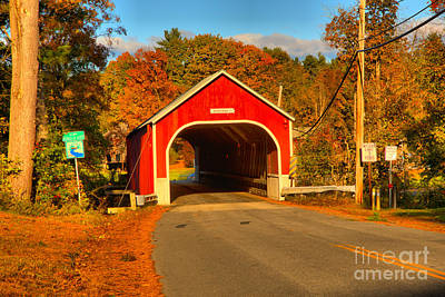 Photograph - Red Cresson Covered Bridge by Adam Jewell