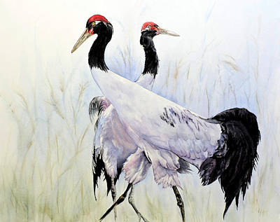 Painting - Red Crown Strut by Vicky Lilla