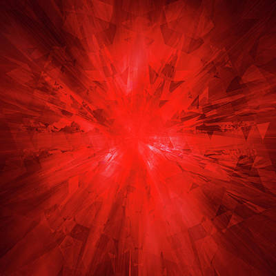 Digital Art - Red Crystal by Barry Costa