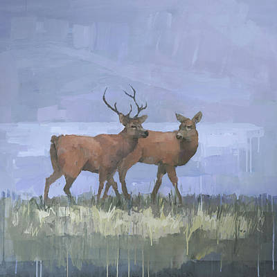 Red Deer On Exmoor Original