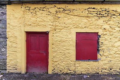 Photograph - Red Door And Shutter To Match Ireland  by John McGraw