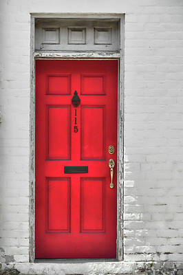Photograph - Red Door by JAMART Photography