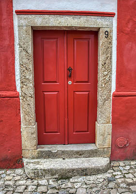 Photograph - Red Door Nine Of Obidos by David Letts
