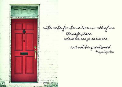Red Door Quote Art Print