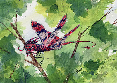 Red Dragonfly Original