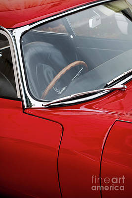 Photograph - Red E Type  by Tim Gainey