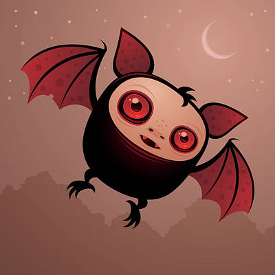 Royalty-Free and Rights-Managed Images - Red Eye the Vampire Bat Boy by John Schwegel