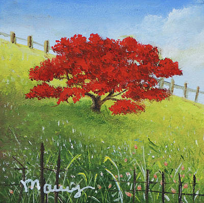 Painting - Red Flamboyant  by Alicia Maury