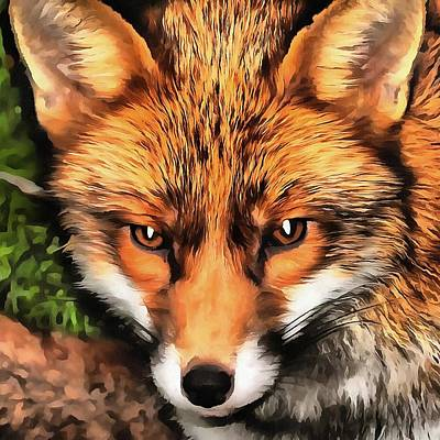 Painting - Red Fox  by Taiche Acrylic Art