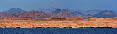 Photograph - Red Glowing Desert And Mountains by Sun Travels