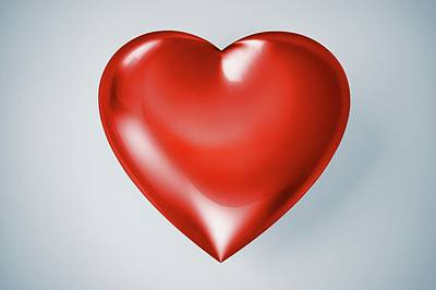 Red Heart, Artwork Art Print by Leonello Calvetti