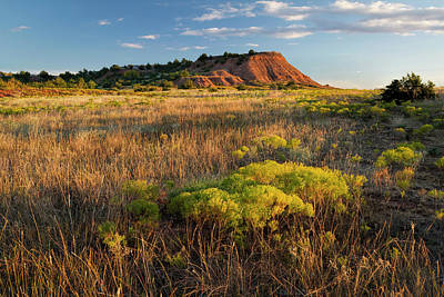 Photograph - Red Hills Evening by Scott Bean