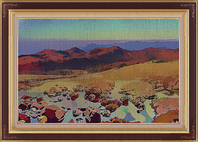 Mixed Media - Red Hills Of The Outback by Clive Littin