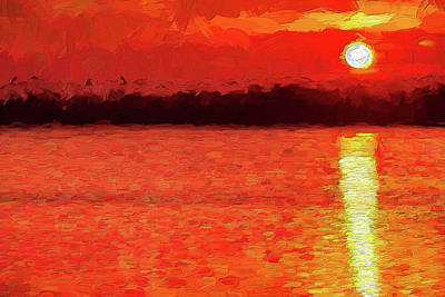 Painting - Red Hot Sunrise Ap by Dan Carmichael
