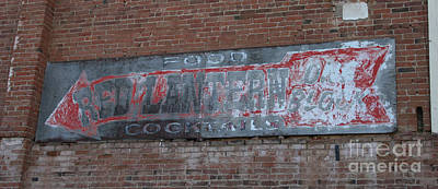 Photograph - Red Lantern Ghost Sign by Tony Baca