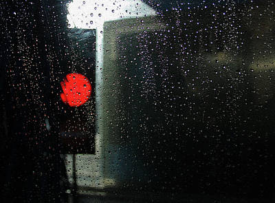 Photograph - Red Light In The Carwash by Nareeta Martin