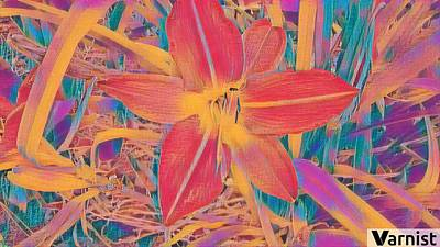 Unicorn Dust - Red lilly by Steven Wills