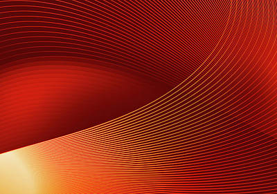 Digital Art - Red Line Waves by Dansin