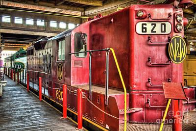 Photograph - Red Locomotive Train by Dan Carmichael