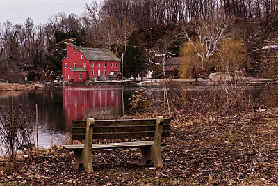 Photograph - Red Mill Reflection Clinton New Jersey by Terry DeLuco