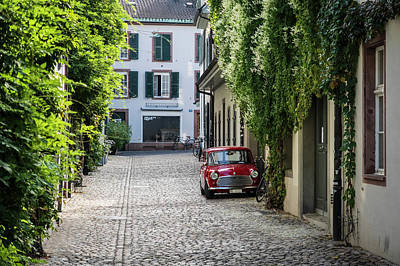 Photograph - Red Mini In Switzerland by Mary Lee Dereske