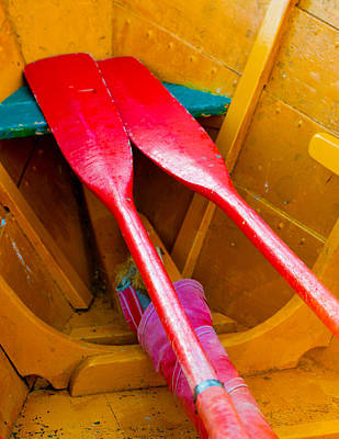 Photograph - Red Oars by Tom Gresham