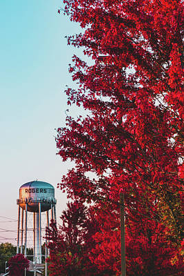 Photograph - Red October - Rogers Arkansas  by Gregory Ballos