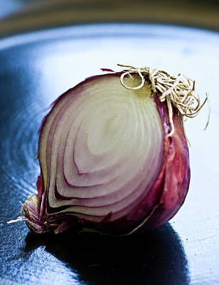Photograph - Red Onion Half by Ray Kachatorian