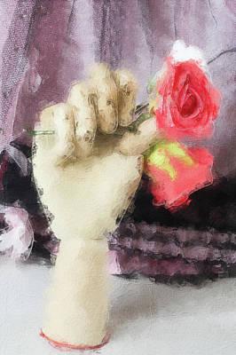 Digital Art - Red Rose by Pekka Liukkonen