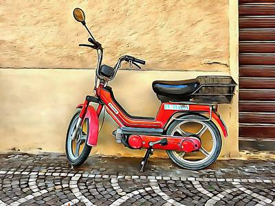 Photograph - Red Piaggio Scooter by Dorothy Berry-Lound