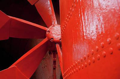 Photograph - Red Propeller II by Helen Northcott