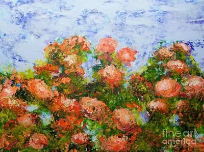 Painting - Red Ribbon Roses by Allan P Friedlander