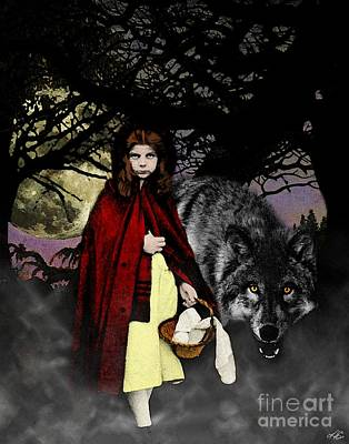 Digital Art - Red Riding Hood by Kenneth Rougeau
