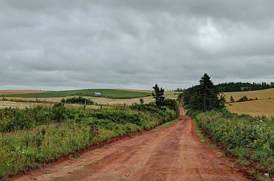 Photograph - Red Road, Pei by John Meader
