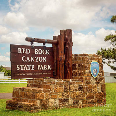 Photograph - Red Rock Canyon State Park Entrance Sign by Imagery by Charly