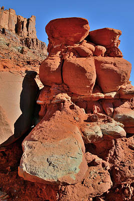 Photograph - Red Rock Towers North Of Moab Utah by Ray Mathis