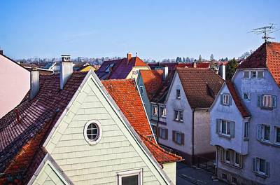 Art Print featuring the photograph Red Roofs In Donaueschingen, Germany by Tatiana Travelways