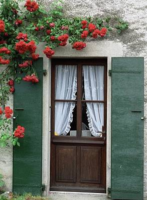 Photograph - Red Rose Door by Susie Rieple