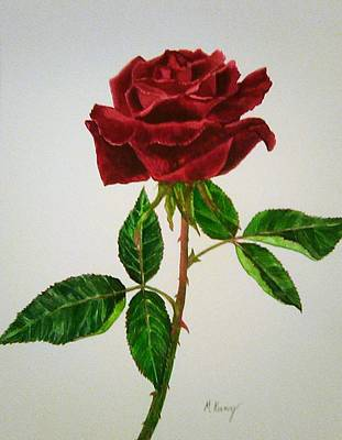 Painting - Red Rose by Melissa Joyfully