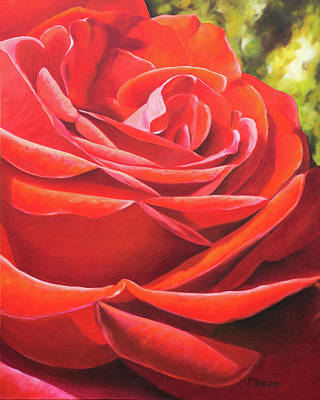 Painting - Red Rose by Patricia Benson