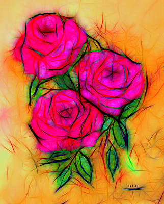 Photograph - Red Roses By Evalee by Evalee Victorino