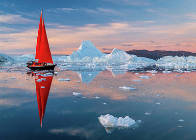 Photograph - Red Sails by Michael Blanchette