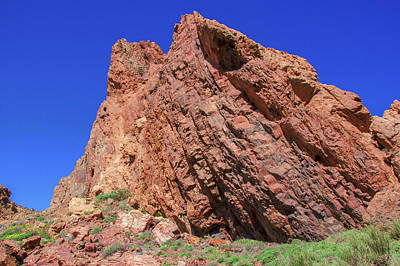 Photograph - Red Sharp-edged Rock In The Teide National Park by Sun Travels