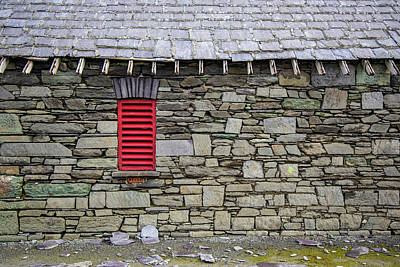 Photograph - Red Shutter And Barn Ireland  by John McGraw