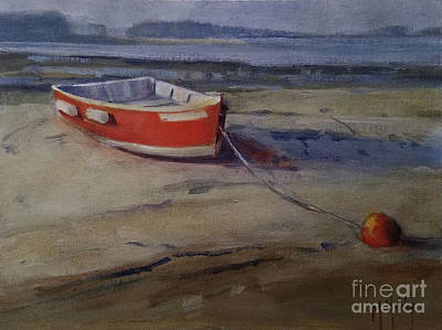 Painting - Red Skiff by Mary Hubley