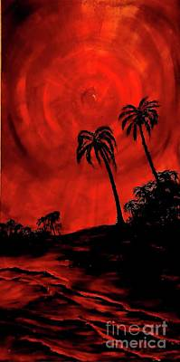 Painting - Red Sky by Michael Silbaugh