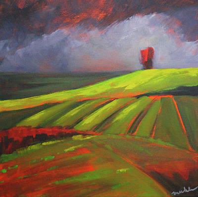 Painting - Red Sky by Nancy Merkle