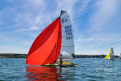 Photograph - Red Spinnaker by Brian Roscorla