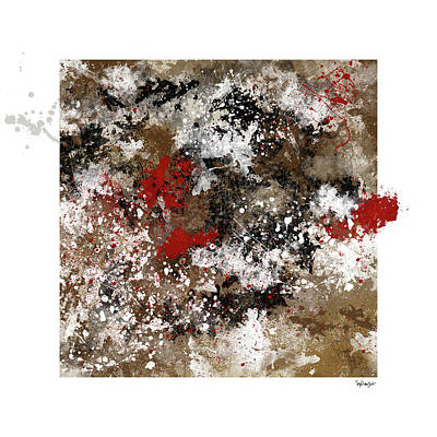 Digital Art - Red Splashes by Sigrid Van Dort